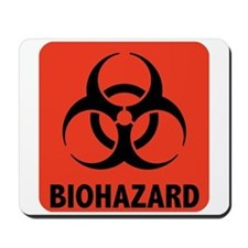 Biohazard Warning Symbol Mousepad