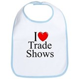 """I Love (Heart) Trade Shows"" Bib"