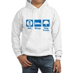 Humorous Tree Hugger Hooded Sweatshirt