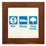 Humorous Tree Hugger Framed Tile