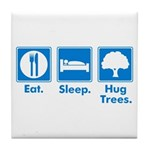 Humorous Tree Hugger Tile Coaster