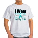 Wife - Ovarian Cancer T-Shirt