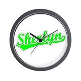 Retro Sherlyn (Green) Wall Clock