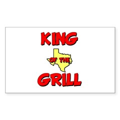 King of the Hill Rectangle Sticker