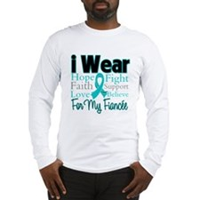 I Wear Teal Fiancee Long Sleeve T-Shirt