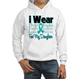 I Wear Teal Daughter Hoodie