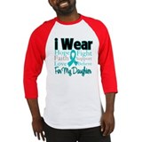 I Wear Teal Daughter Baseball Jersey