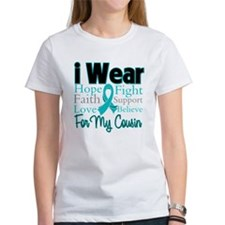 I Wear Teal Cousin v1 Tee
