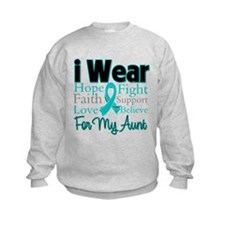 I Wear Teal Aunt v3 Sweatshirt
