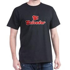 Retro El Salvador (Red) T-Shirt
