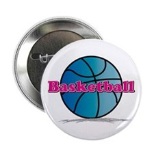 "Basketball PkBl 2.25"" Button (10 pack)"