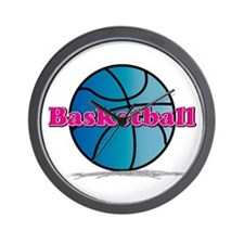 Basketball PkBl Wall Clock