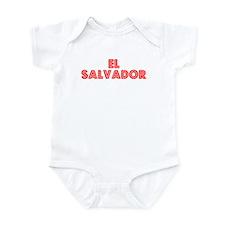 Retro El Salvador (Red) Infant Bodysuit