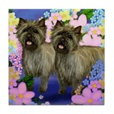 CAIRN TERRIER DOGS GARDEN Tile Coaster