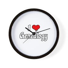 """""""I Love Genealogy"""" Wall Clock"""