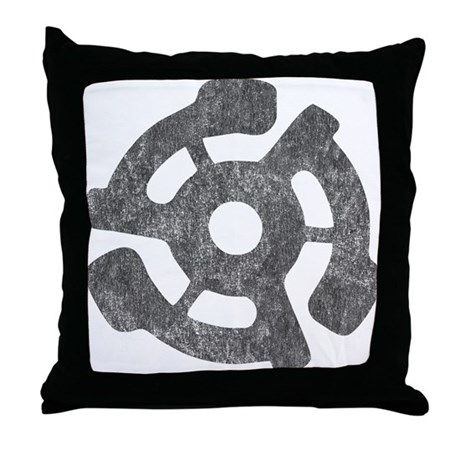 Vintage 45 RPM Throw Pillow