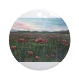 French Poppies Ornament (Round)