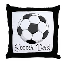 Soccer Dad Throw Pillow