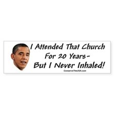 """I Never Inhaled That Crap"" Bumper Sticker (50 pk)"