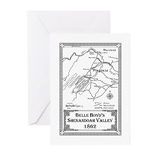 Belle Boyd' Map 1862 Greeting Cards (Pk of 10)