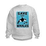 Save the Whales Kids Sweatshirt