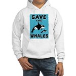 Save the Whales Hooded Sweatshirt