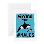 Save the Whales Greeting Card