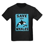Save the Whales Kids Dark T-Shirt