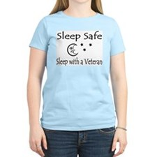 Sleep Safe Sleep with a Veteran Women's Pink T-Shi