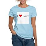 I Love Love Women's Pink T-Shirt
