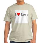 I Love Love Ash Grey T-Shirt