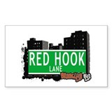 RED HOOK LANE, BROOKLYN, NYC Rectangle Decal