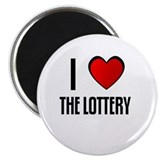 "I LOVE THE LOTTERY 2.25"" Magnet (100 pack)"