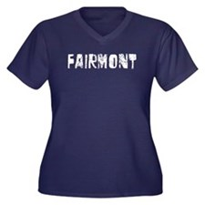 Fairmont Faded (Silver) Women's Plus Size V-Neck D