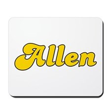 Retro Allen (Gold) Mousepad