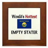 World's Hottest Empty Stater Framed Tile