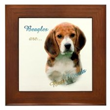 Beagle Best Friend1 Framed Tile