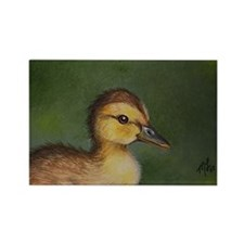 Miniature Duck Art on Refrigerator Magnet