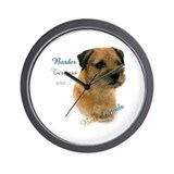 Border Terrier Best Friend1 Wall Clock