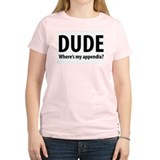Where's My Appendix Women's Pink T-Shirt