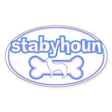 Powderpuff Stabyhoun Oval Decal