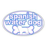 Powderpuff Spanish Water Dog Oval Decal