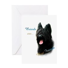 Briard Best Friend1 Greeting Card