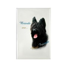Briard Best Friend1 Rectangle Magnet