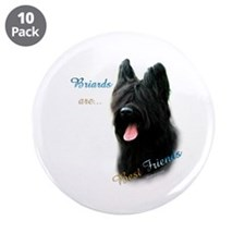 "Briard Best Friend1 3.5"" Button (10 pack)"