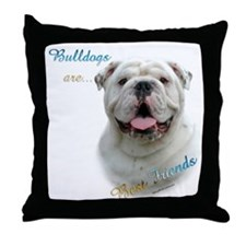 Bulldog Best Friend1 Throw Pillow