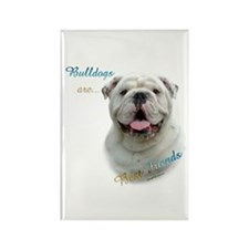 Bulldog Best Friend1 Rectangle Magnet (100 pack)