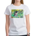 Irises / Miniature Schnauzer Women's T-Shirt