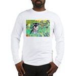 Irises / Miniature Schnauzer Long Sleeve T-Shirt