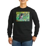 Irises / Miniature Schnauzer Long Sleeve Dark T-Sh